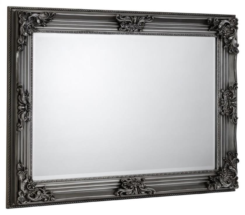 Rococo Pewter Wall Mirror