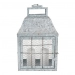 Galvanised Metal Oblong Lantern Small