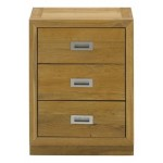 Como Nightstand 3 Drawer Oiled Oak