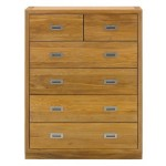 Como 4 2 Drawer Chest Oiled Oak