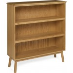 Muness Oak Wide Bookcase