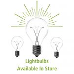 - Light Bulbs Available In Store-