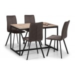 Tribeca Dining Table Set with x1 Bench & x2 Monroe Chairs